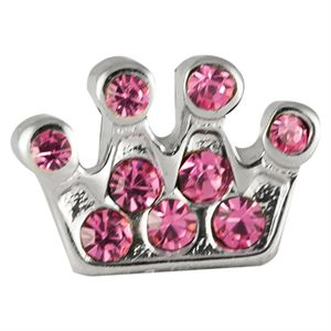 Picture of Pink Crystal Crown Charm