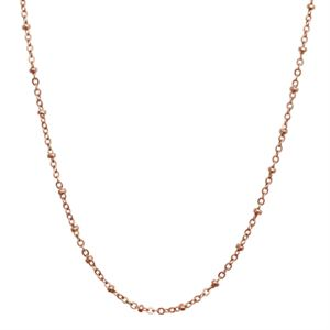Picture of Rose Gold Faceted Bead Chain - 32""