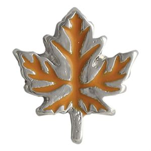Picture of Orange Fall Leaf Charm