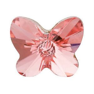 Picture of Peach Rose Butterfly Charm