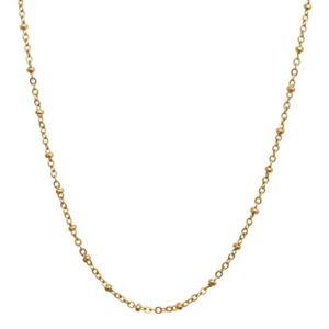Picture of Gold Faceted Bead Chain - 32""