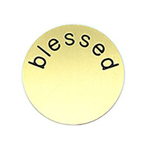 Picture of 'Blessed' Medium Gold Coin