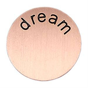 Picture of 'Dream' Large Rose Gold Coin