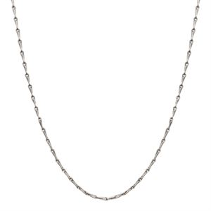 Picture of Silver Elongated Cable Chain - 28""