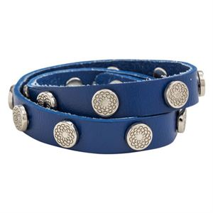 Picture of Royal Blue Leather Wrap with Silver Studs