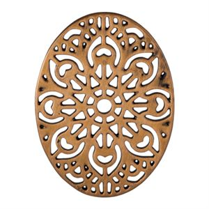 Picture of Rose Gold Ornate Vintage Oval Screen