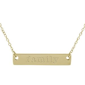 Picture of Gold 'Family' Bar Necklace - 16""