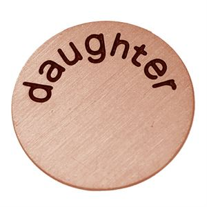 Picture of 'Daughter' Medium Rose Gold Coin