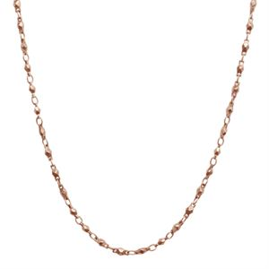 Picture of Nickel-Safe Rose Gold Multifaceted Link Chain -28""