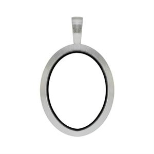 Picture of Silver Matte Oval Locket