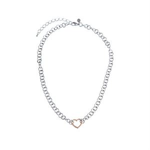 Picture of Rose Gold Heart with Silver chain 18""