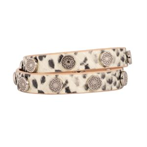 Picture of Snakeskin Leather Wrap with Silver Studs